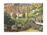 Watercolor Garden II Print by Dianne Miller