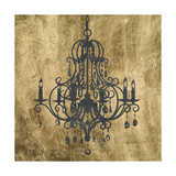 Gilt Chandelier VIII Prints by Jennifer Goldberger