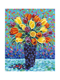 Bouquet Celebration II Art by Carolee Vitaletti
