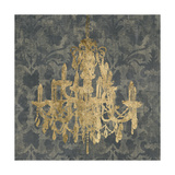 Gilt Chandelier III Poster by Jennifer Goldberger