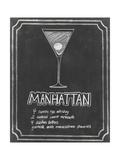 Chalkboard Cocktails II Premium Giclee Print by Grace Popp