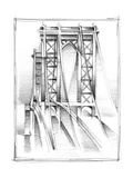 Art Deco Bridge Study I Stretched Canvas Print by Ethan Harper