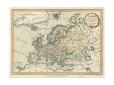 Historic Map of Europe Art by  Laurie & White