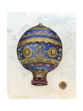 Vintage Hot Air Balloons V Poster por Naomi McCavitt