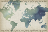 Watercolor World Map Posters by Grace Popp