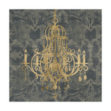 Gilt Chandelier IV Prints by Jennifer Goldberger