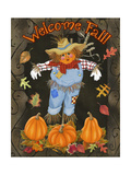 Fall Scarecrow I Art by Sue Ditzian
