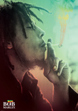 Bob Marley Smoking Lights Plakaty