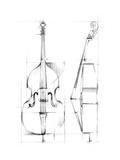 Bass Sketch Prints by Ethan Harper