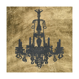 Gilt Chandelier VI Prints by Jennifer Goldberger