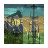 Oil Rig and Oil Well Collage Posters av Sisa Jasper