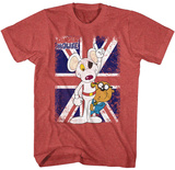 Danger Mouse- Distressed Flag T-Shirt