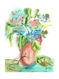 Flower Burst Vase II Premium Giclee Print by Julia Minasian