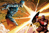Avengers Assemble Panel Featuring Ultron, Captain America Prints
