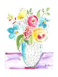 Flower Burst Vase I Premium Giclee Print by Julia Minasian