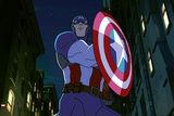 Avengers Assemble Animation Still Featuring Captain America Posters