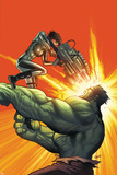 Incredible Hulk 14 Cover Featuring Hulk Posters by Greg Land