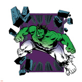 Marvel Comics Retro Badge Featuring Hulk Posters