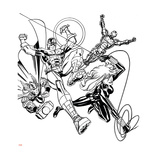 Avengers Assemble Inks Featuring Iron Man, Captain America, Thor, Black Widow Prints