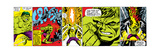 Marvel Comics Retro Design Featuring Hulk Poster