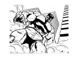 Avengers Assemble Inks Featuring Hulk Poster