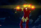Avengers Assemble Animation Still Featuring Iron Man Posters