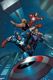 Avengers Assemble Artwork Featuring Captain America, Thor, Iron Man, Hawkeye Posters