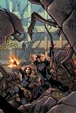 Avengers Assemble Panel Featuring Black Widow, Hawkeye Prints