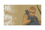 Avengers Assemble Panel Featuring Hawkeye Posters