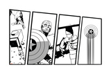 Avengers Assemble Inks Featuring Thor, Captain America Posters