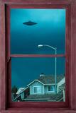 UFO Window Posters