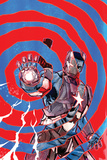 """Iron Patriot 1 Cover Featuring Iron Patriot, James """"Rhodey"""" Rhodes Plastic Sign by Garry Brown"""
