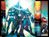 Ultimate Comics Ultimates 24 Featuring Captain America, Thor, Iron Man Plastic Sign by Joe Bennett