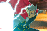 Avengers Assemble Animation Still Featuring Thor Poster