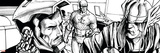 Avengers Assemble Inks Featuring Captain America, Tony Stark, Iron Man, Thor Prints