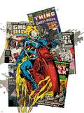 Marvel Comics Retro Badge Featuring Ghost Rider Prints