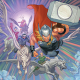 Avengers Assemble Artwork Featuring Thor, Volstagg, Fandral, Hogun, Sif Posters