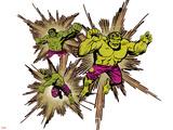 Marvel Comics Retro Badge Featuring Hulk Plastic Sign