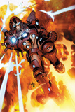 Invincible Iron Man 523 Cover Featuring Iron Man Prints by Salvador Larroca