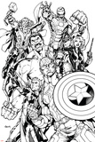 Avengers Assemble Inks Featuring Captain America, Hawkeye, Hulk, Black Widow, Iron Man, Thor Affiches