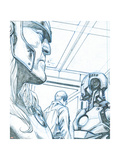 Avengers Assemble Pencils Featuring Thor, Iron Man Print