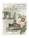 Visiting Paris Premium Giclee Print by Jennifer Goldberger