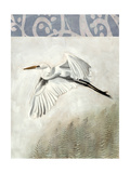 Waterbirds in Mist II Poster by Naomi McCavitt