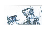 Avengers Assemble Pencils Featuring Thor, Hawkeye Print