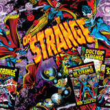 Marvel Comics Retro Pattern Design Featuring Dr. Strange Photo