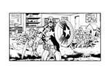 Avengers Assemble Artwork Featuring Captain America Photo