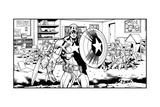 Avengers Assemble Artwork Featuring Captain America Photo
