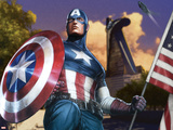 Avengers Assemble Artwork Featuring Captain America Poster