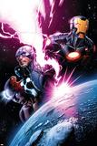 Avengers 7 Featuring Iron Man, Captain America, Spider-Man, Night Mask, Devoux, Tamara Posters by Dustin Weaver