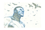 Avengers Assemble Pencils Featuring Falcon Posters
